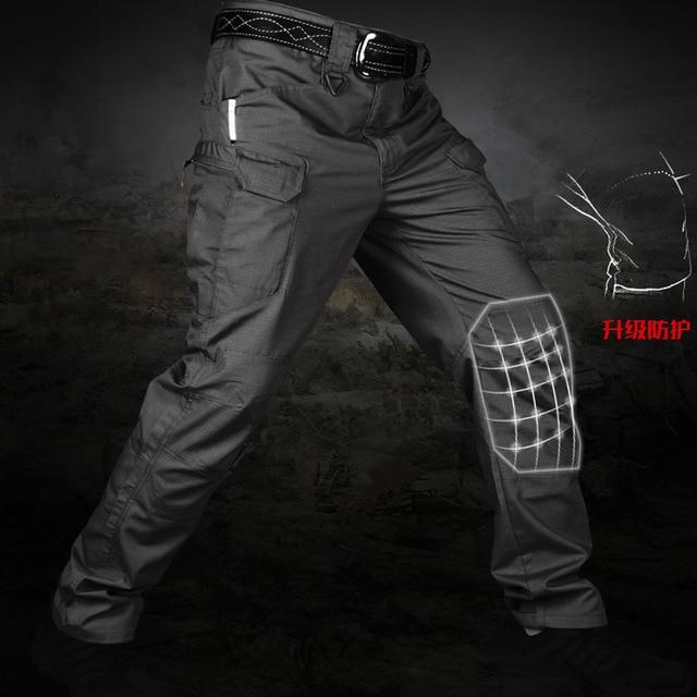 Nuevos Pantalones Tacticos Para Hombre Multiples Bolsillos Elasticos Militar Urbano Commuter Pantalones Tacitcal Hombres Delgados Fat Cargo Pantalon 5xl Pantalones Tipo Cargo Aliexpress