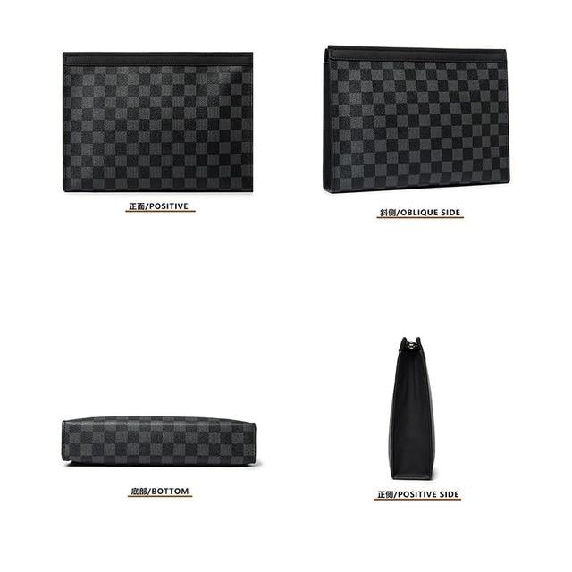 Mode étanche embrayages sacs hommes fermeture éclair affaires sacs à main pour homme 2020 concepteur de luxe Plaid main enveloppe sac