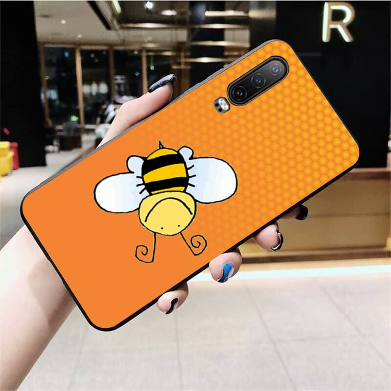 Yellow Honey Bee Customer High Quality Phone Case For Huawei P40 P30 P20 Lite Pro Mate 20 Pro P Smart 2019 Prime