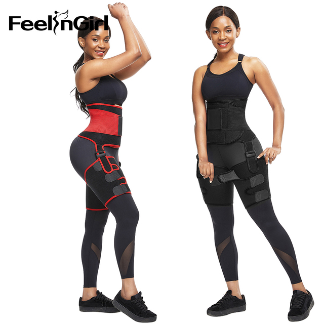 FeelinGirl Neoprene Thigh Trimmer Leg Shapers Slimming Belt Sweat Waist Trainer Weight Loss Workout Corset Thigh Slimmer Strap 4