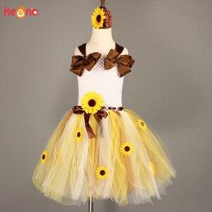 Image 5 - Платье пачка с подсолнухами и цветочным принтом