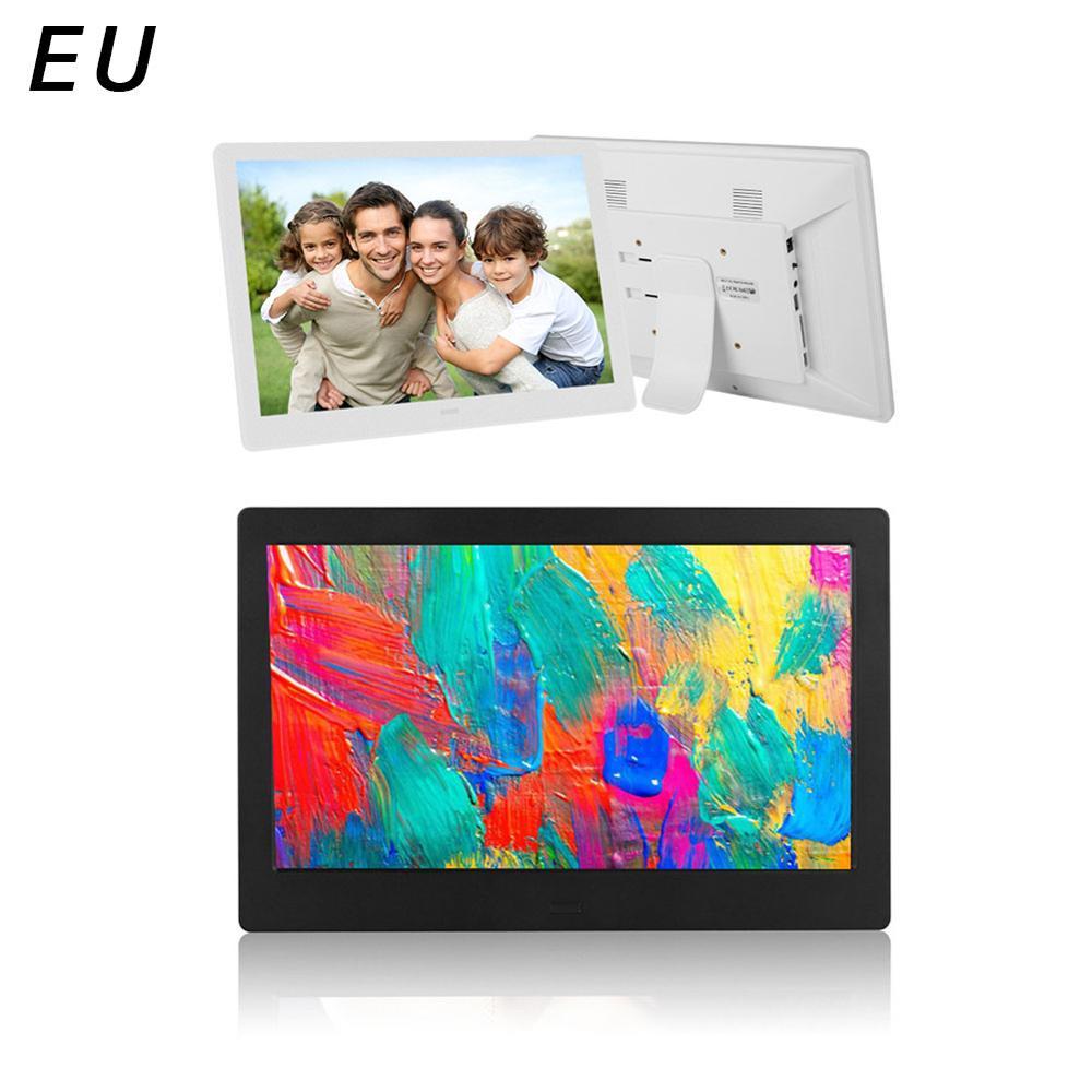 10//12//15 Inch Widescreen Digital Photo Frame Elevator Wall Hanging Electronic Album HD Photo Video Player MP3 Calendar Black UK Plug 15 Inch