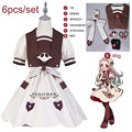 Hanako-kun Costume 6 шт., костюм для косплея Yashiro Nene, Униформа, платье, парик Jibaku Shounen, карнавальный костюм на Хэллоуин