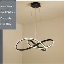 قلادة Led ضوء مصباح معلق أسود الذهب الأبيض اللون الحديثة المنزل قلادة مصباح لغرفة الطعام المطبخ غرفة المعيشة مكتب أضواء