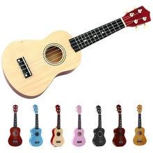 21 polegada soprano ukulele 4 cordas guitarra havaiana uke + string picareta para iniciantes presente do miúdo