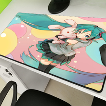 Yuzuoan Hot Sale Sexy Anime Hatsune Future Mousepad Game Player Mousemat Natural Rubber Non-sliplockedgekey Board Pad Large Size