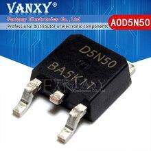 10 قطعة AOD5N50 إلى 252 D5N50 TO252 5N50 سوت MOS 5A 500V