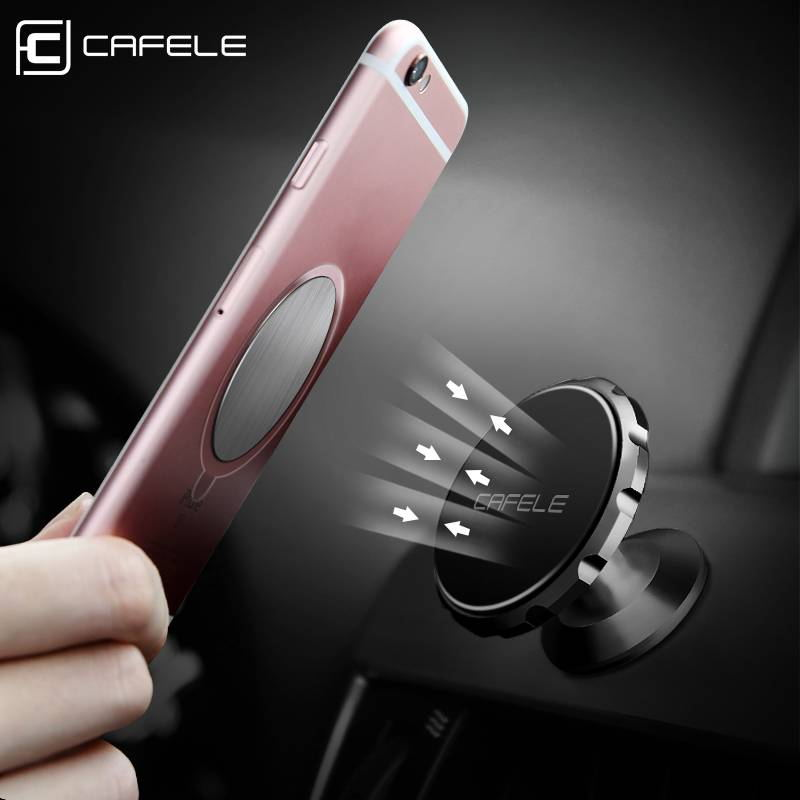 Cafele Car Phone Holder Magnetic Phone Holder Magnet Stand Aluminum Alloy Universal Car Mobile Phone Holder Stand
