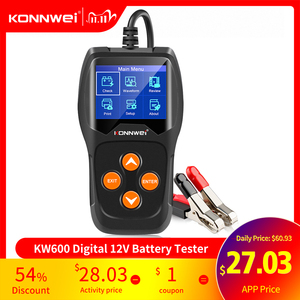 Image 1 - KONNWEI KW600 Car Battery Tester 12V 100 to 2000CCA 12 Volts Battery tools for the Car Quick Cranking Charging Diagnostic