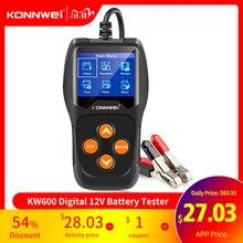 KONNWEI KW600 Tester Batteria Auto 12 V 100 a 2000CCA 12 Volt utensili a Batteria per la Macchina Rapido A Gomito di Ricarica diagnostica