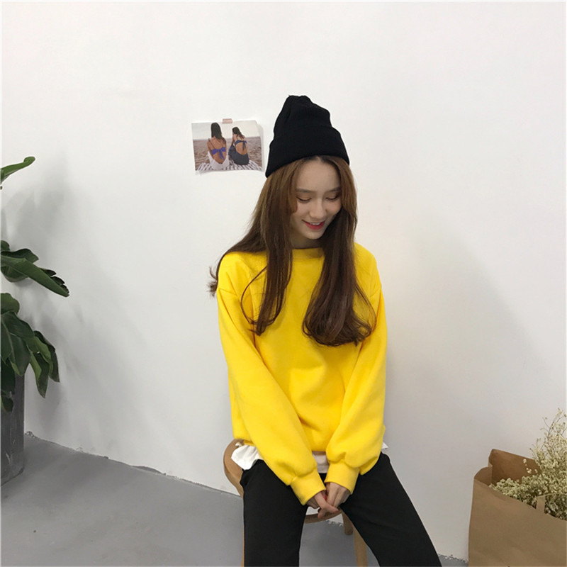 H9fb4c53712a84487a10bad72ad7059a88 - Autumn winter Harajuku Solid Sweatshirt Women Long Sleeve Hoodie Loose Women Hoodies Sweatshirts Casual Tracksuit