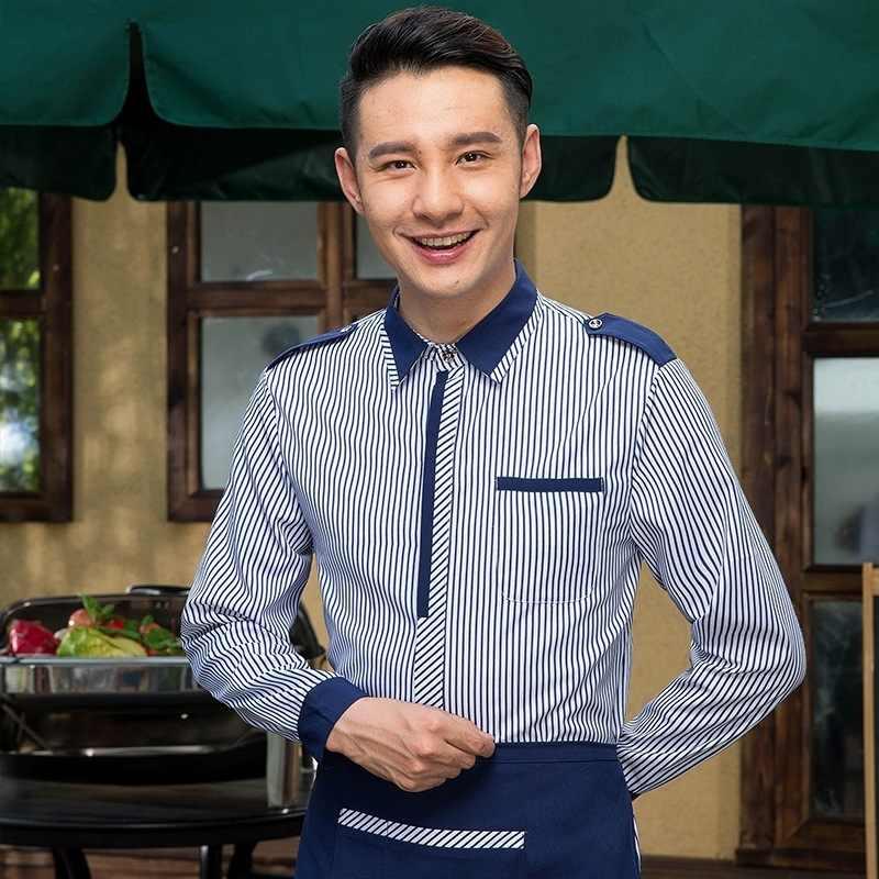 Nieuwe Cafe Mannen Ober Uniform Western Restaurant Serveerster Uniform Koffie Winkel Personeel Werk Outfit Bakkerij Keuken Chef Pak 90