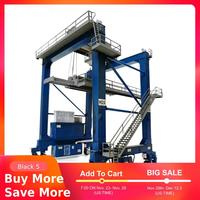 1:87 HO Scale Train Railway Scene Decoration Container Crane Model for Sand Table Model Building Kits