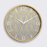 Retro Wood Frame Top design Nordic Wall Clock Unique Decoration Hanging Wall Watches 12 Inch Silent Living Room Wall Clock