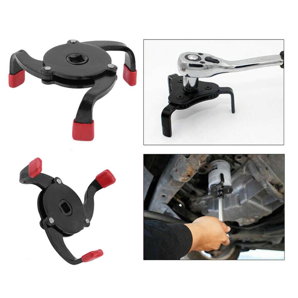 Llave de filtro de aceite para vehículo, 58-100mm, ajustable, Universal, 1 sentido, removedor de mandíbula para coche, SUV, camión, equipos de herramientas manuales