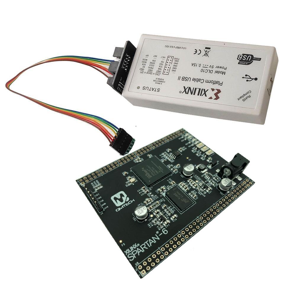 XILINX Spartan-6 Spartan6 FPGA Development Board 32MB SDRAM Micron MT48LC16M16A2 XC6SLX16 Core Board with DLC10 Xilinx Download-0