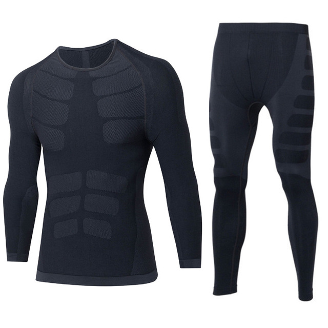New Winter Thermal Underwear Sets Men Quick Dry Anti-microbial Stretch Men's Thermo Underwear Male Warm Long 2019