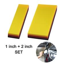 EHDIS 2pcs Carbon Fiber Film Installing Squeegee TPU Scraper Vinyl Car Wrap Window Tint Auto Household Cleaning Wiper Tools Set
