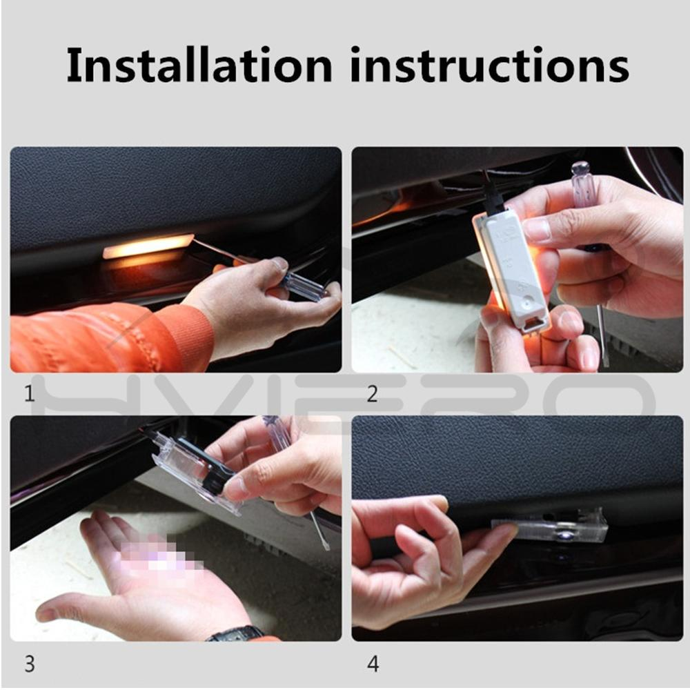 Купить с кэшбэком 2X Door Light Special Welcome Light Projection Lamp Logo LED for Audi A1 A3 A4L A6L Q3 Q5 Q5L R8 RS3 RS4 RS5 RS6 5W Laser Light
