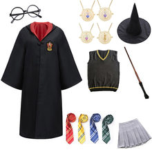 Halloween Party Cosplay Costume Kids Adult Cloak Robe Suits Tie Scarf Magic Wand Children Cosplay Clothes Accessories Ropa