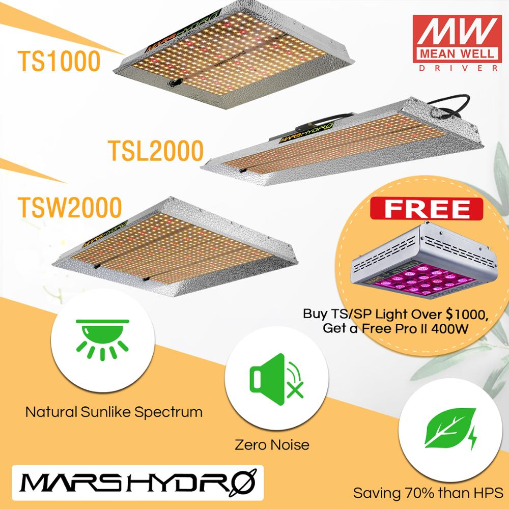 2019 Mars Hydro TS 600W 1000W 2000W 3000W LED Grow Light Lamp Sunlike Full Spectrum Indoor Plants Veg Flower Hydroponics