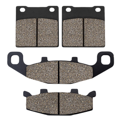 Cyleto Motorcycle Front and Rear Brake Pads for Suzuki GSX250 Across 1990-1998 GSF400 Bandit 400 1991-1995 GS500 1989-1995