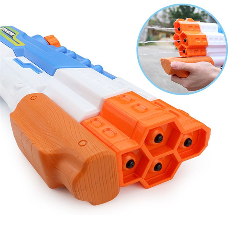 Water Gun Soaker 4 Nozzles Water Blaster Squirt Gun 30ft Water Pistol Water Fight Summer Toys Outdoor Swimming Pool Beach Toys