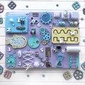 Детская занят доска DIY игрушки моторные мастерство защелкой познание игрушка игры Запчасти для Монтессори Сенсорная активность доска аксе...