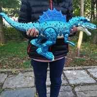 Elektrische Simulierte Dinosaurier Roboter Spielzeug Oversize Walking mit Sound Licht Gliedmaßen Schaukel Tyrannosaurus Rex Kinder Spielzeug Weihnachten Geschenk