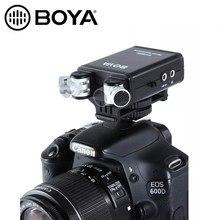 Boya BY-SM80 passfilter câmera estéreo microfone com monitor de voz em tempo real para canon 5d2 6d 800d nikon d800 d600 filmadora