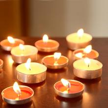 50Pcs/set Smokeless Scented Candles Birthday Pendulum Aromatherapy Scented Wax Candles Round Candles Wholesale Small U7G8