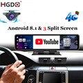 Автомобильный видеорегистратор HGDO, 12 дюймов, видеорегистратор на приборной панели, Android 8,1, 4G, ADAS, видеорегистратор заднего вида, FHD 1080P, Wi-Fi, GPS,...