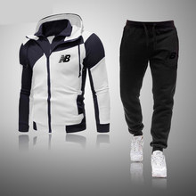 2021 New Men's Fashion Hoodie Sportswear Men Clothes Jogging Casual Tracksuit Mens Running Sport Suits Sweatshirt+Pant 2Pcs Sets