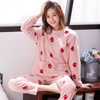 2019 Autumn Winter Warm Flannel Women Pyjamas Sets Cartoon velvet Homewear Animal Sleepwear