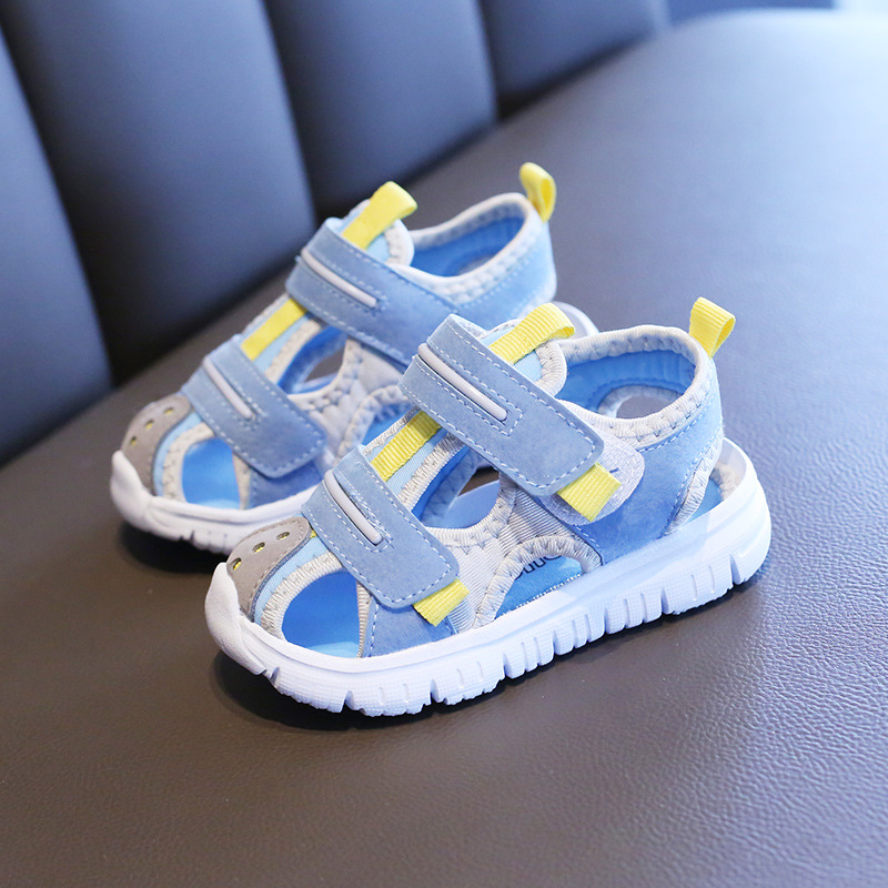 New Summer Children Sandals Boys Girls Beach Shoes Soft Walking Baotou Closed-Toe Outdoor Kids Toddler Sandasl For Baby Shoes