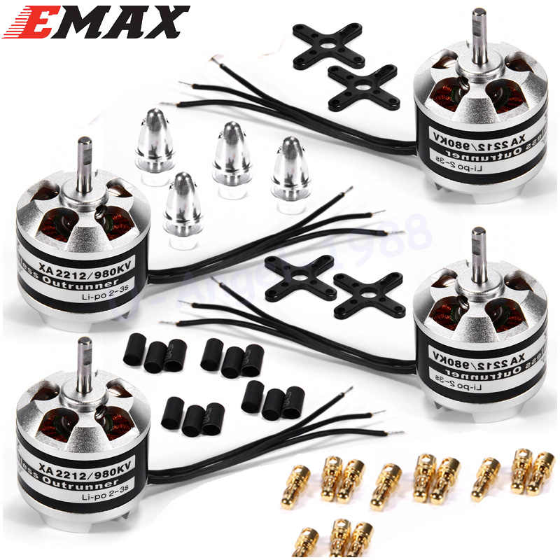 4set/lot Original Emax XA2212 820KV 980KV 1400KV 3S Brushless Motor for Mini 250 280 FPV Quadcopter Quadcopter