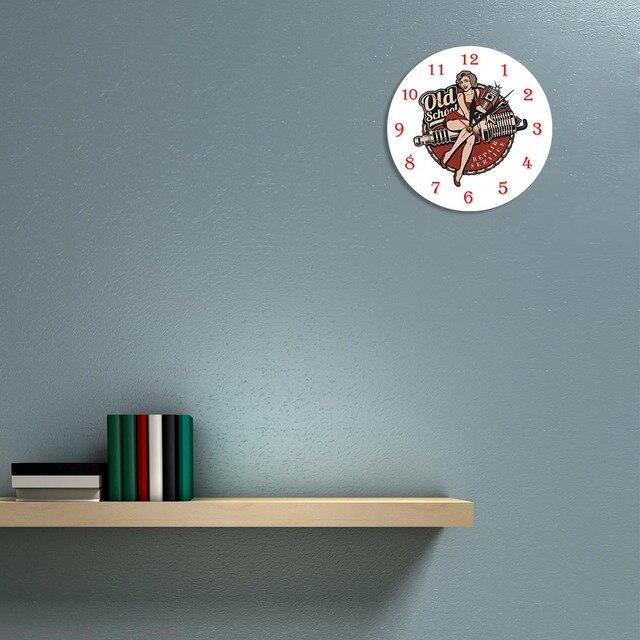 Garage Retro Spark Plug Wall Clock 6