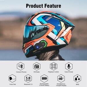 Image 2 - Nieuwe Motorfiets Bluetooth Helm TMAX M Waterdicht Moto Helmen Stereo Headsets Handsfree Hoofdtelefoon (Zonder Intercom Functie)