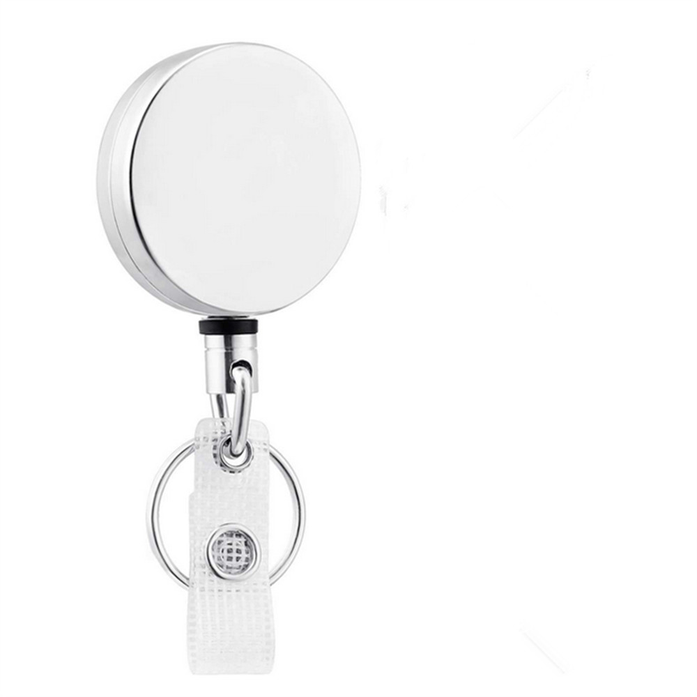 LOT 10 Clip Retractable Reel ID Badge Holder Key Chain Reels With Metal New