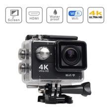 Ultra hd 4k/30fps original h9 ação câmera wifi 2.0 polegada 170d subaquática à prova dunderwater água câmeras de gravação vídeo gopro esporte cam