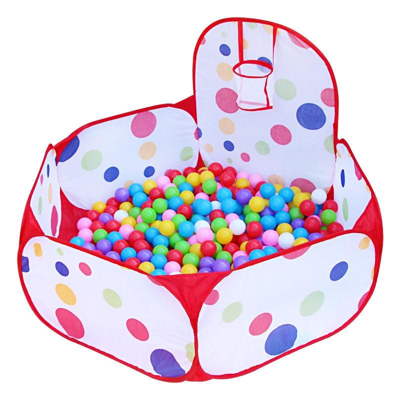 1,5 м детский манеж портативный детский мячик для бассейна с сухим мячом для бассейна с Баскетбольным кольцом складывающиеся уличные игрушк...