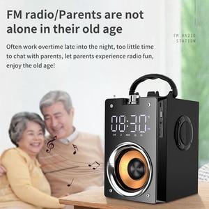 Image 5 - Bluetooth hoparlör taşınabilir büyük güç kablosuz 2200mAh Subwoofer ağır bas Stereo müzik çalar lcd ekran FM radyo TF