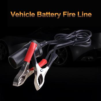 12 Volt Battery Terminal Durable Clips Car Lighter Power Socket Adapter Plug image