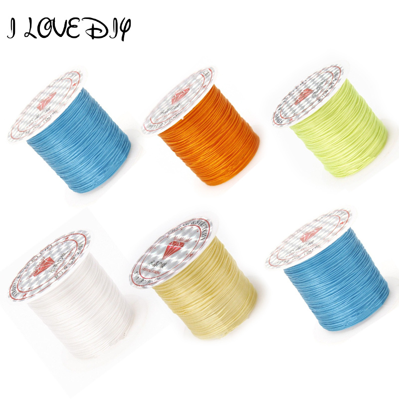 Wholesale 1 Roll (10 Meters) Thread Strong Stretchy Elastic String Cord 1mm For DIY Jewelry Making