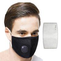 Em estoque pm2.5 algodão respirador respirável válvula máscara filtro inserível filtragem de alta eficiência respirável 1 conjunto|Másc.| |  -