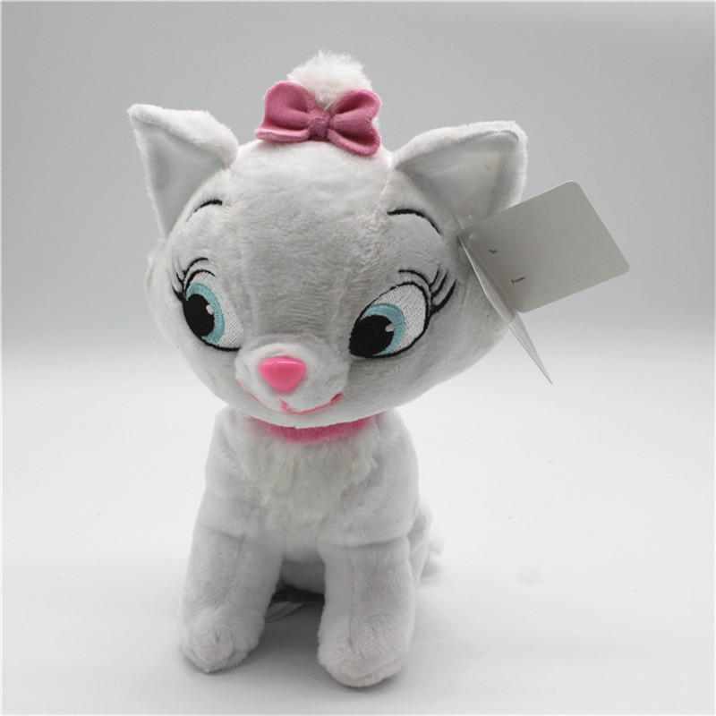1 piece 23CM marie cat Plush Toy The adventures of the cat marie cat stuffed doll birthday Gift for kids