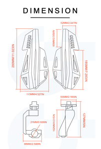 Image 5 - Motocross Hand Guard Motorfiets Bescherming Shock Absorberen Handguards Voor Honda Gold Wing F6B NC700 X CB1000R NC700V CYX700N Dct