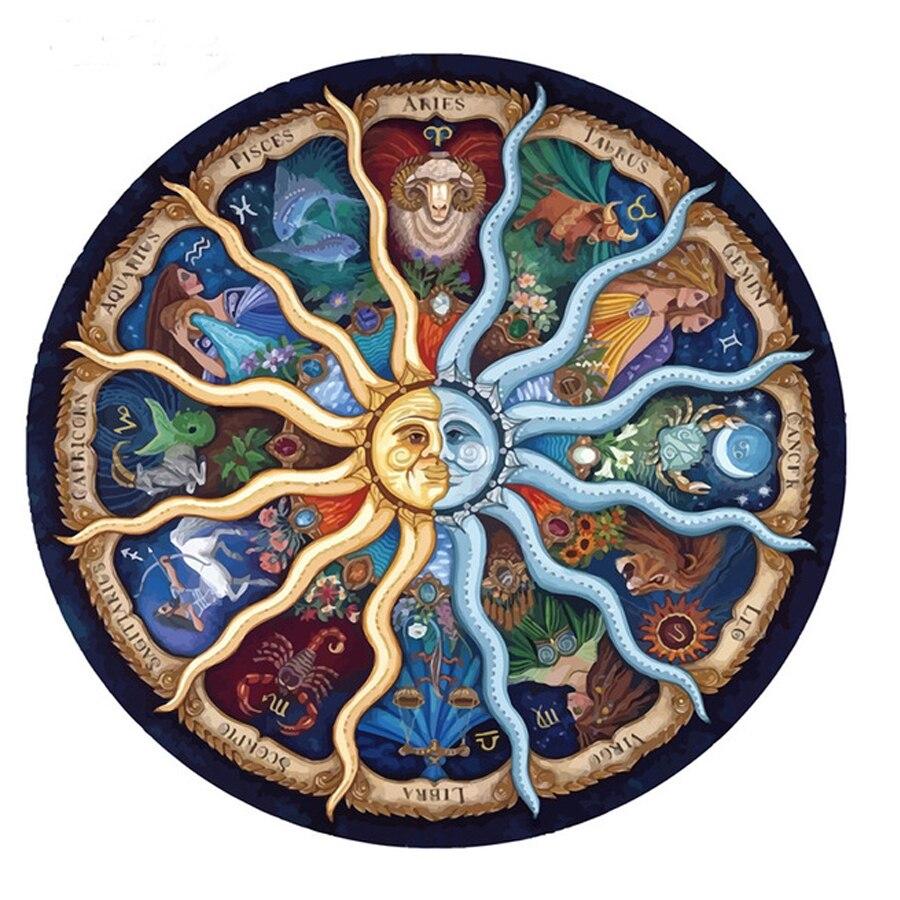 Pdmdog 12 зодиака Мандала Алмазная Вышивка крестом полный квадрат