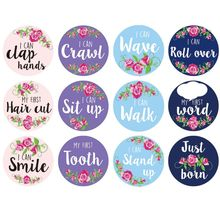 Get more info on the Baby Pregnant Women Monthly Photograph Sticker Fun Month Milestone Stickers DIY Kid Souvenirs Prop