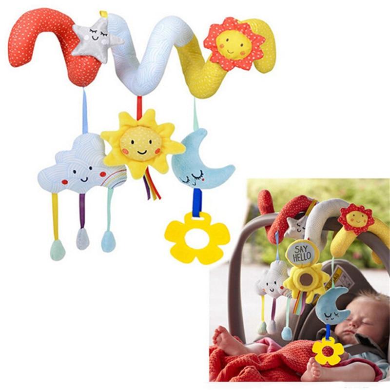 desenvolvimento precoce macio infantil berco cama carrinho de crianca brinquedo espiral brinquedos do bebe para recem